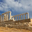 Ruins of Poseidon temple, Greece — Stock Photo