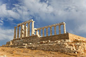 Ruins of Poseidon temple, Greece — Stock Photo