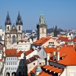 Red roofs of Old Town, Prague — Stock Photo #6207362