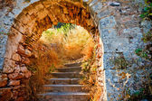 楼梯到 palamidi 堡垒,奥林匹亚 — 图库照片