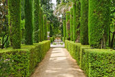 Garden of the Poets, Alcazar Palace, Seville — Stock Photo