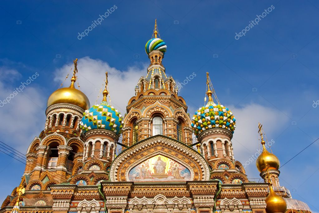 Church of the Savior on Spilled Blood, St. Petersburg, Russia — Stock Photo #6207369