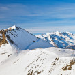 Ski slopes in French Alps — Stock Photo