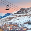 Ski resort in French Alps - Foto Stock
