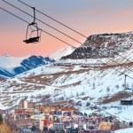 station de ski en français Alpes — Photo