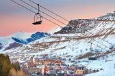 Ski resort in French Alps — Stock Photo