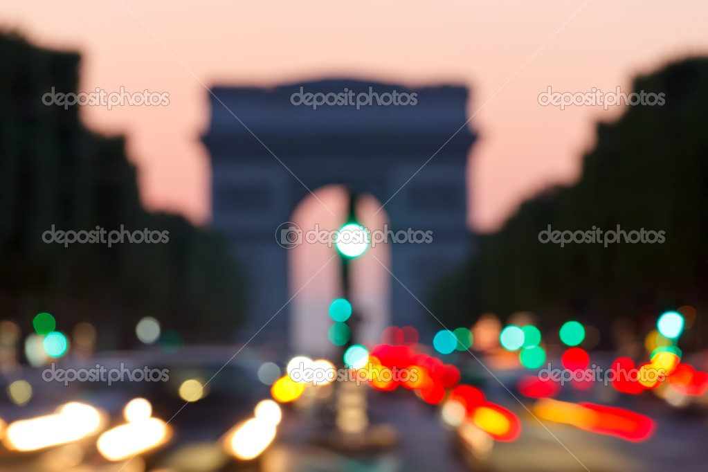 Out of focus background: Arc de Triomphe, Paris — Stock Photo #6271644