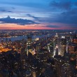 Stock Photo: View on New York and New Jersey