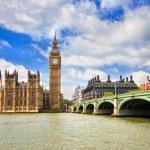 Биг Бен и Вестминстерский дворец, Лондон — Стоковое фото