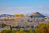 Acropolis at sunset — Stock Photo