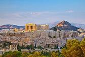 Acropolis at sunset — Stock Photo