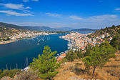 View on Poros and Galatos — Stockfoto