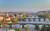 View on Prague Bridges — Stok fotoğraf