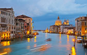 Grand canal at evening, Venice — Stock Photo