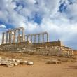 Ruins of Poseidon temple — Stock Photo