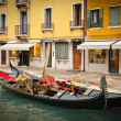 Traditional gondoles in Venice - Stock Photo