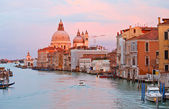 Grand canal at sunset, Venice — Stock Photo