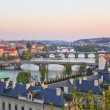 Prague Bridges after sunset — Stock Photo
