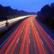 Night time traffic on highway — Stock Photo #6384115