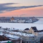 Nizhny Novgorod at winter — Stock Photo
