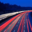 Night time traffic on highway — Stock Photo #6384856