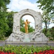 Statue of Johann Strauss in Vienna - Stock Photo