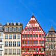 Old traditional buildings in Frankfurt - Stock Photo