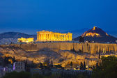 Acropolis at night, Athens — 图库照片