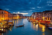Grand Canal at night, Venice — Stock Photo