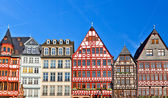 Old traditional buildings in Frankfurt — Stock Photo