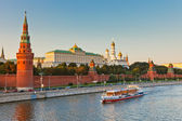 Moscow kremlin at sunset — Stok fotoğraf