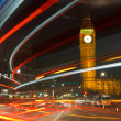 Traffic in night London — Stock Photo