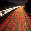 Night time traffic on highway — Stock Photo
