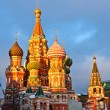 Saint Basil's cathedral at sunset — Stock Photo #6394499