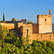 View on Alhambra at sunset - Stock Photo