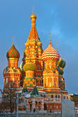Saint Basil's cathedral at sunset — Stock Photo