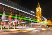 Traffic in night London — Stock Photo
