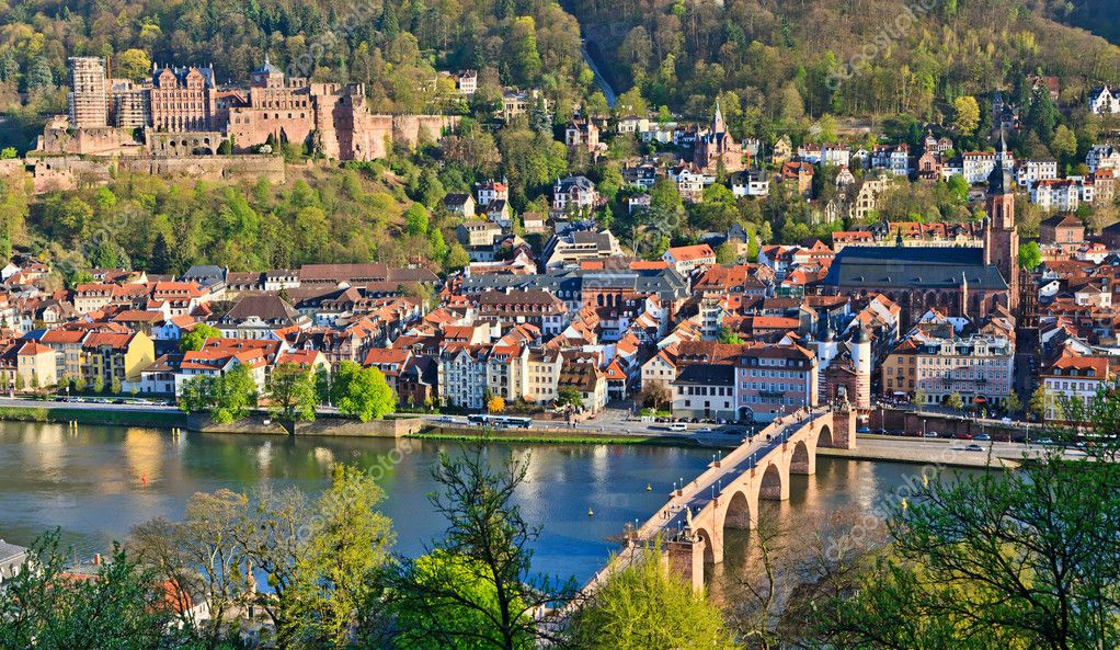 Heidelberg at spring, Germany  Stock Photo #6394767
