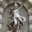 Sculptures on Michaelerplatz Fountain in Hofburg Quarter, Vienna - Stock Photo