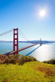Golden Gate Bridge at sunny day — Stock Photo