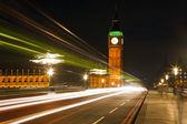 Traffic in night London, UK — Stock Photo
