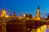 London at night, UK — Stock Photo