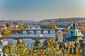 View on Prague at sunset — Stok fotoğraf
