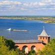 View on Volga river from Nizhny Novgorod Kremlin, Russia — Foto Stock