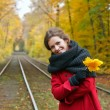 Young woman in autumn park — Stock Photo #6458903
