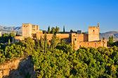 Alhambra au coucher du soleil, granada, espagne — Photo