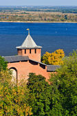White tower of Nizhny Novgorod Kremlin, Russia — Stock Photo