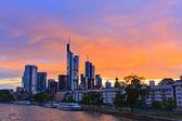 Frankfurt at sunset — Stock Photo