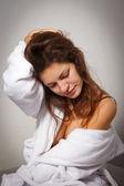 Giovane donna che soffre di depressione — Foto Stock