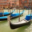 Stock Photo: Traditional gondolas in Venice